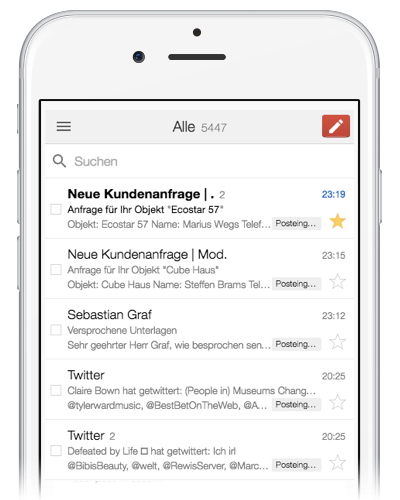 anfrage mail